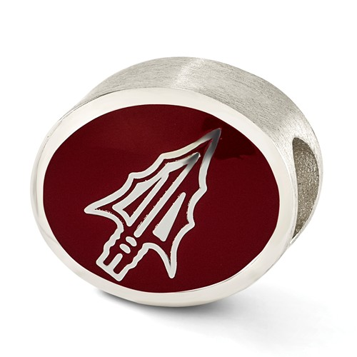 Sterling Silver Enameled Florida State University Bead