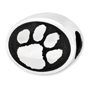 Sterling Silver Clemson University Tigers Bead