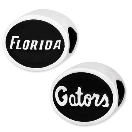 Sterling Silver Florida Gators Charm Bead