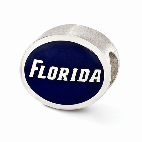 Sterling Silver Enameled University of Florida Bead