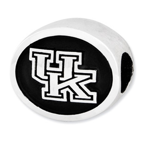 Sterling Silver University of Kentucky Wildcats Bead