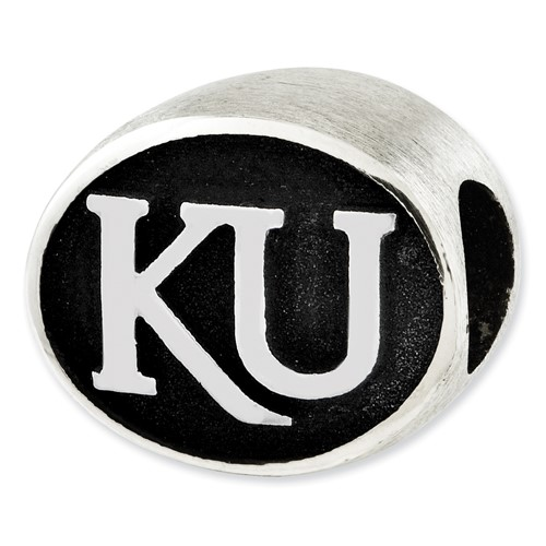 Sterling Silver University of Kansas Charm Bead