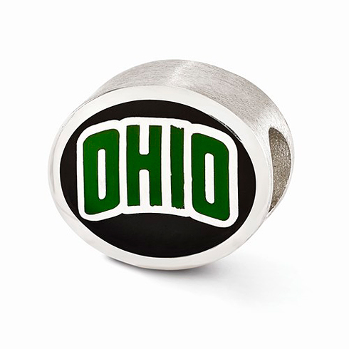 Sterling Silver Enameled Ohio University Bead