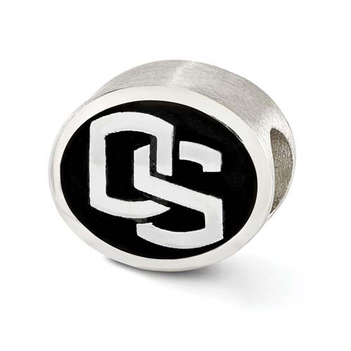 Sterling Silver Oregon State Beavers Bead