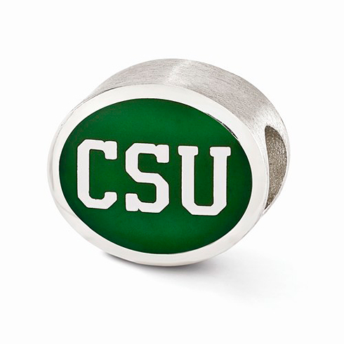 Sterling Silver Enameled Colorado State University Bead