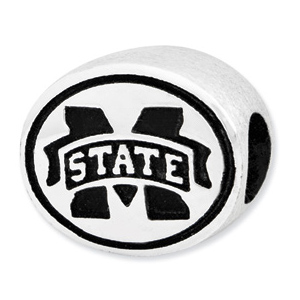 Sterling Silver Mississippi State University Bead