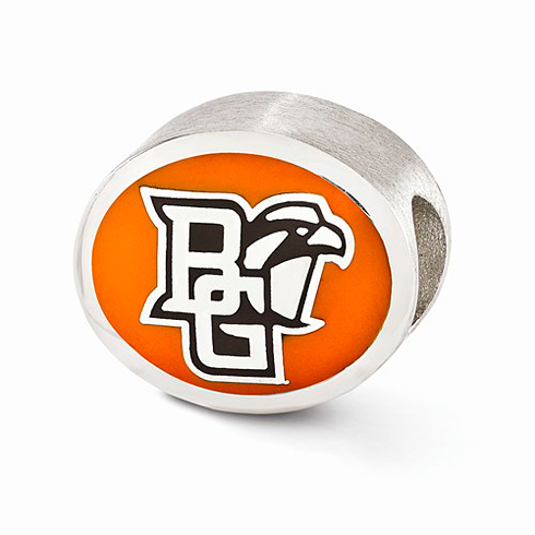 Sterling Silver Enameled Bowling Green University Bead