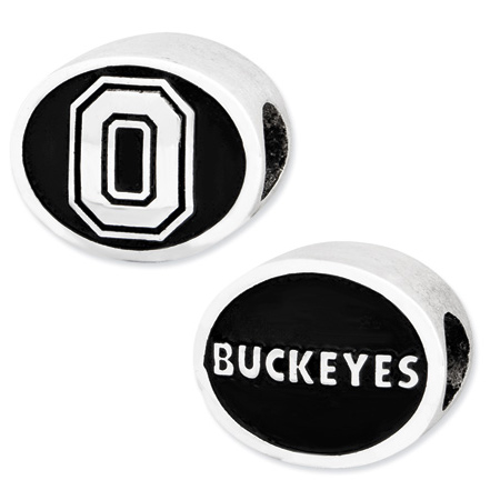Sterling Silver Ohio State Buckeyes Bead