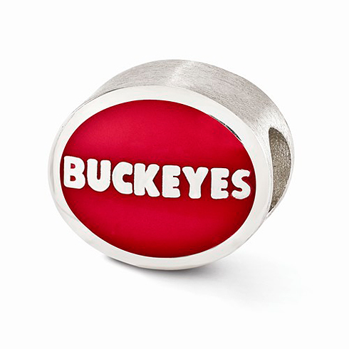 Sterling Silver Enameled Ohio State University Bead