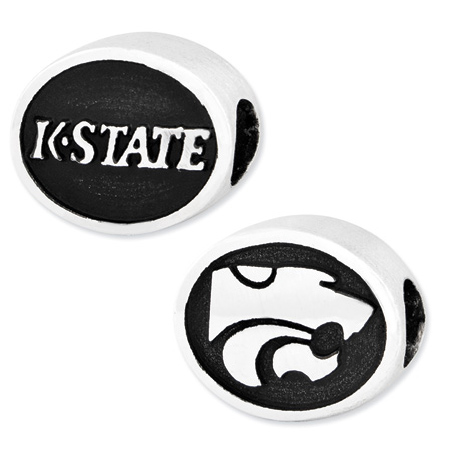 Sterling Silver Kansas State Wildcats Bead