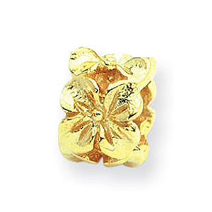 14k Reflections Floral Bead