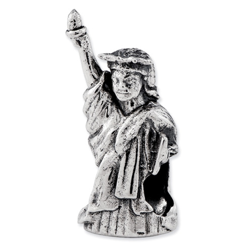 Sterling Silver Reflections Statue of Liberty Bead