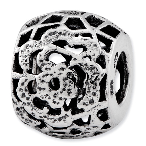 Sterling Silver Reflections Bali Bead with Flower