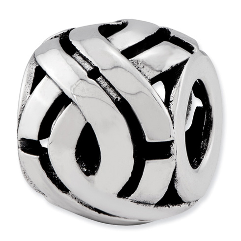 Sterling Silver Reflections Bali Bead with Weave Pattern