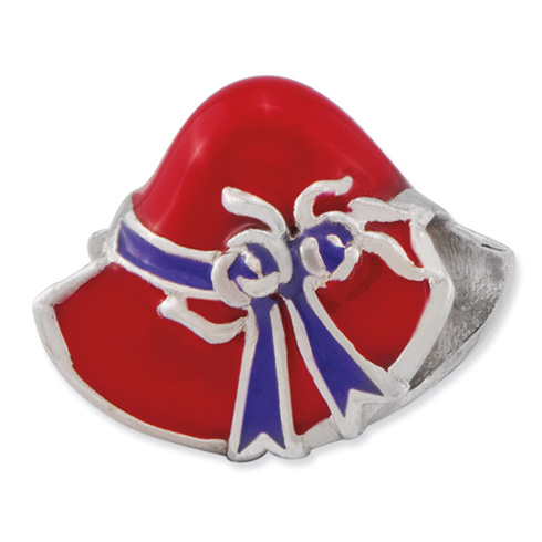 Sterling Silver Reflections Red Hat Society Bead