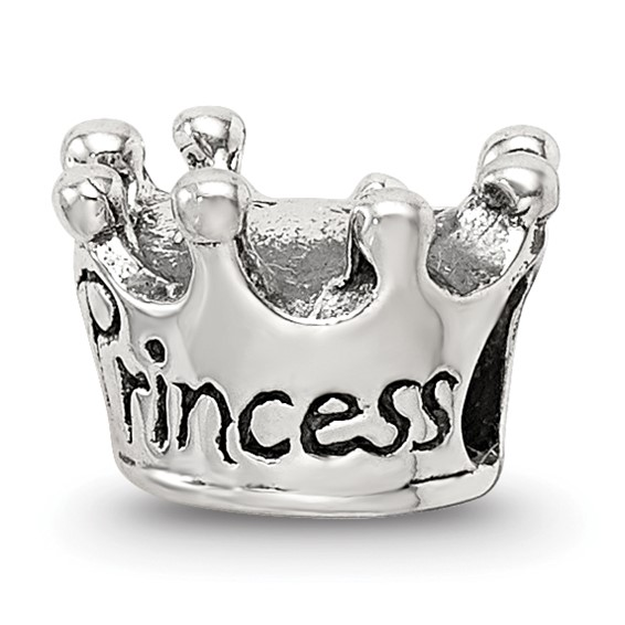 Sterling Silver Reflections Kids Princess Crown Bead