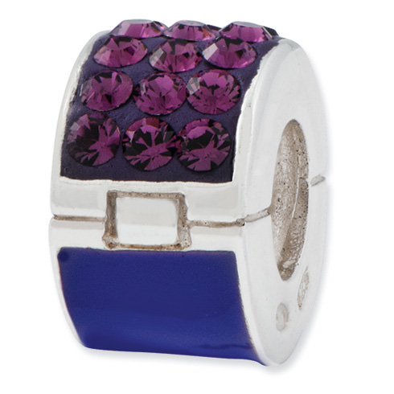 Sterling Silver Reflections Purple Swarovski Elements Bead