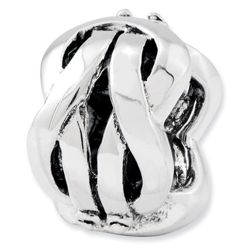 Sterling Silver Reflections Wavy Bali Bead