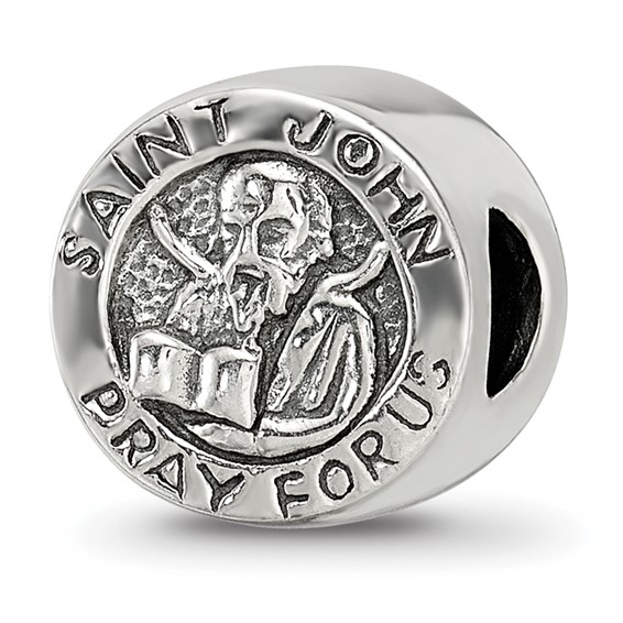 Sterling Silver Reflections Saint John Pray For Us Bead