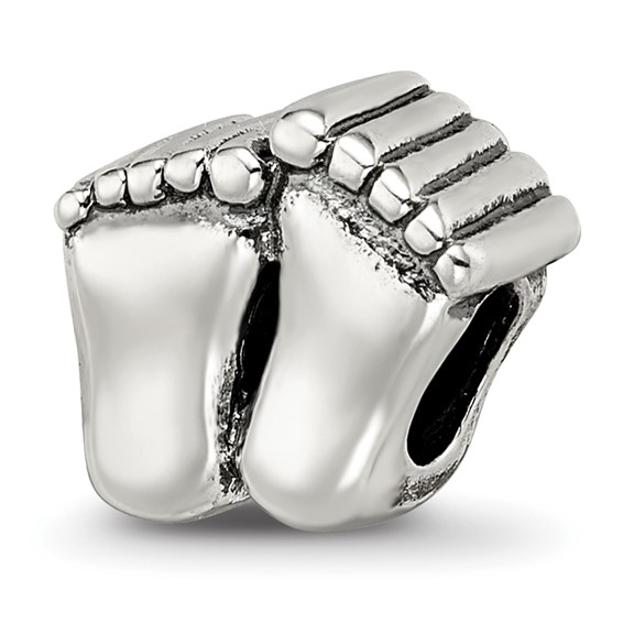 Sterling Silver Reflections Big Feet Bead