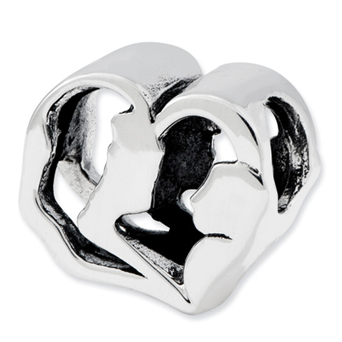 Sterling Silver Reflections Mother and Baby Bead