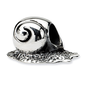 Sterling Silver Reflections Snail Bead