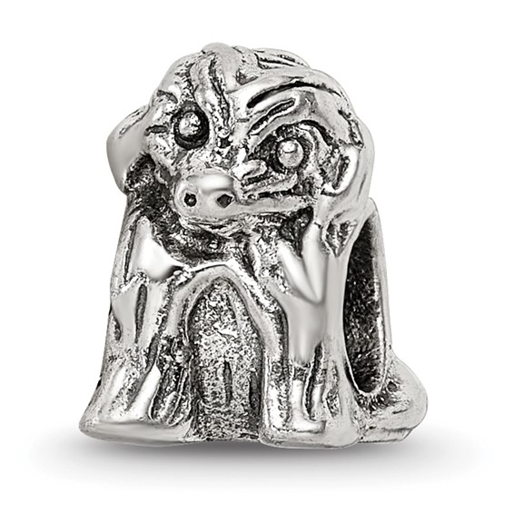 Sterling Silver Reflections Sitting Puppy Bead