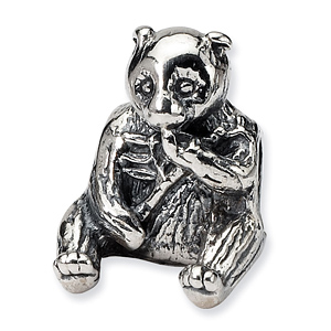 Sterling Silver Reflections Bear Bead