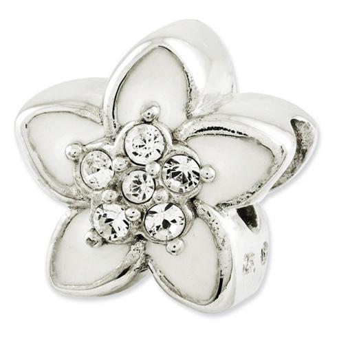 Sterling Silver Reflections Swarovski Elements Flower Bead