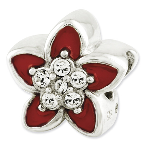 Sterling Silver Reflections Swarovski Elements Flower Bead