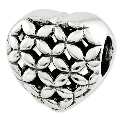 Sterling Silver Reflections Heart Bead