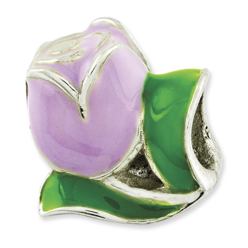 Sterling Silver Reflections Kids Enameled Tulip Bead