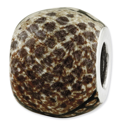 Sterling Silver Reflections Variation Animal Print Bead