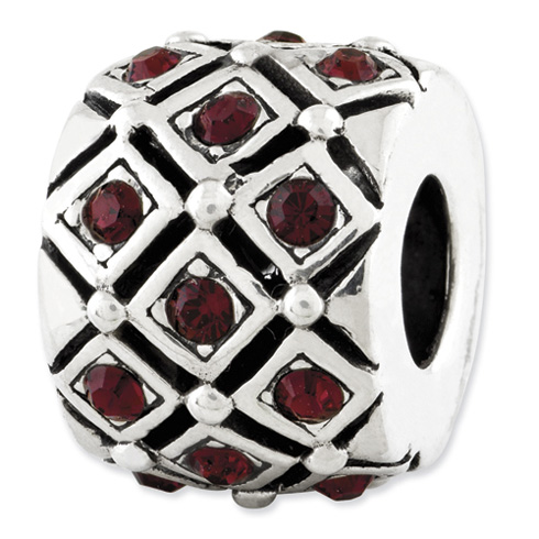 Sterling Silver Reflections January Swarovski Elements Bead