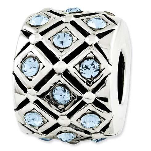 Sterling Silver Reflections March Swarovski Elements Bead