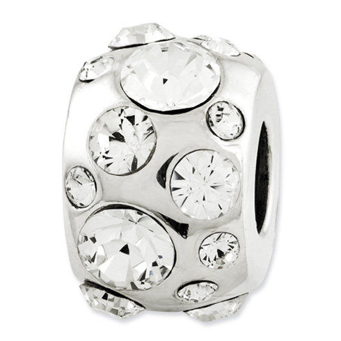Sterling Silver Reflections April Swarovski Elements Bead