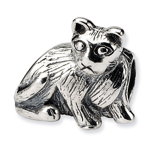 Sterling Silver Reflections Sitting Cat Bead