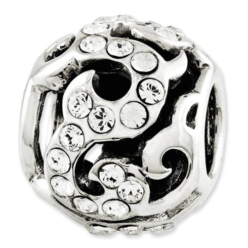 Sterling Silver Reflections Swarovski Elements Swirl Bead