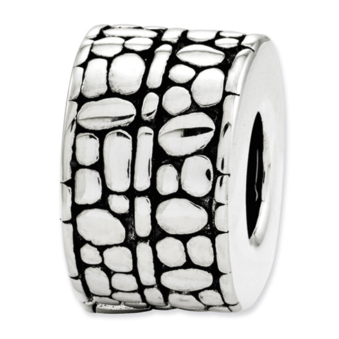Sterling Silver Reflections Dots and Textured Bali Bead