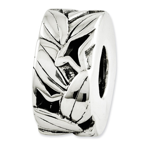 Sterling Silver Reflections Leaf Bali Bead