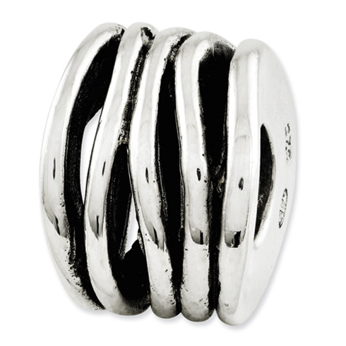 Sterling Silver Reflections Ringed Bali Bead