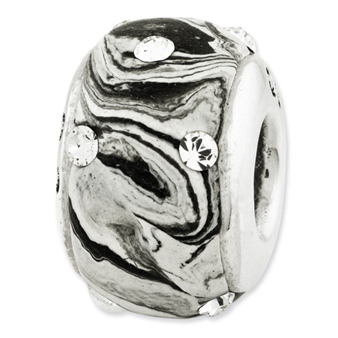 Sterling Silver Reflections Molded with Swarovski Elements Bead