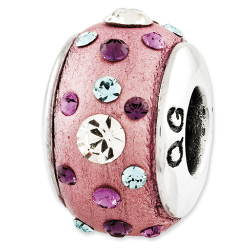 Sterling Silver Reflections Pink Molded with Swarovski Elements Bead