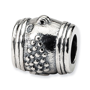 Sterling Silver Reflections Grape Barrel Bead