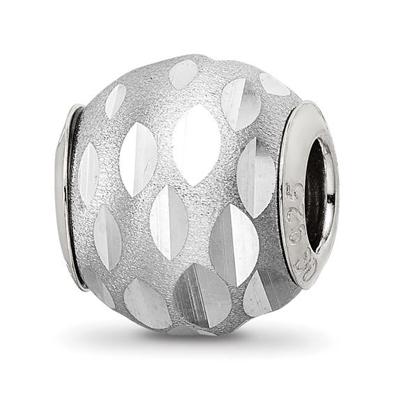 Sterling Silver Reflections Velvet Diamond Cut Bead