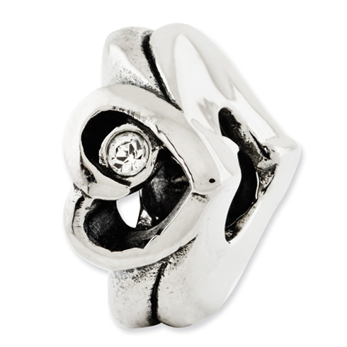 Sterling Silver Reflections Heart with Swarovski Elements Bead