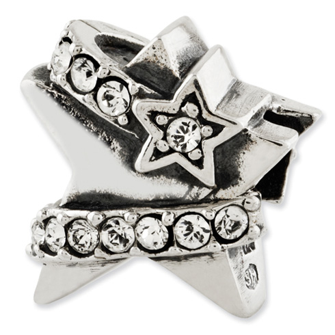 Sterling Silver Reflections Star with Swarovski Elements Bead