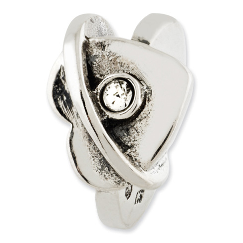 Sterling Silver Reflections Wrapped Hearts with Swarovski Elements Bead
