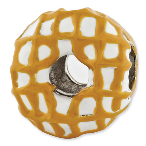 Sterling Silver Reflections Enameled Donut Bead