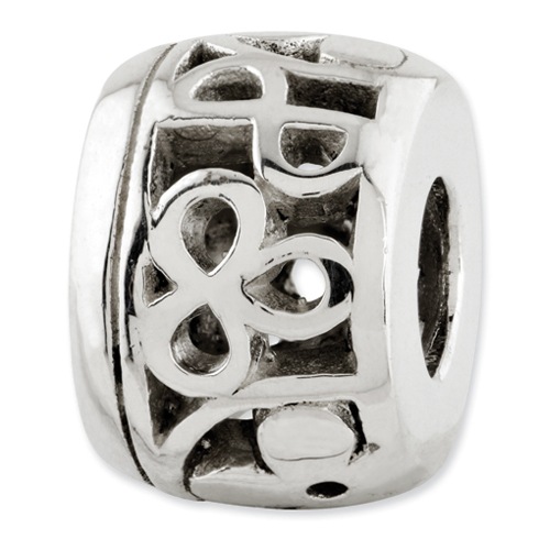 Sterling Silver Reflections Floral Cutout Bali Bead
